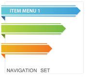 Web menu. Vector navigation on the white paper Stock Image
