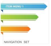 Web menu stock image