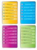 Web menu Royalty Free Stock Image