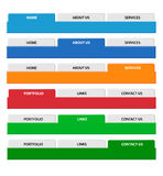 Web menu header set. Vector. Stock Photography