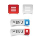 Web menu icon button Royalty Free Stock Photography