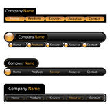 Web menu navigation template Stock Photography