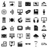 Web message icons set, simple style Stock Photo
