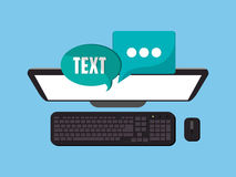Web messaging through computer image Royalty Free Stock Photo