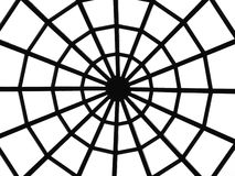 Web of metal. Silhouette of a metal web Stock Photo