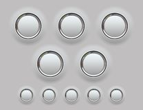 Web Metal Button. Vector illustration royalty free illustration