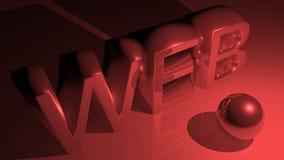 WEB in metallic red Stock Photos