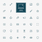 32 web minimal line icons Royalty Free Stock Images