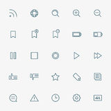 25 web minimal line icons. Vector Royalty Free Stock Images