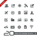 Web & Mobiele pictogram-2 //-Grondbeginselen Stock Foto's