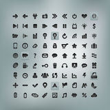 Web and Mobile Icon Set Stock Photo