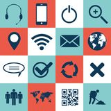 Web and mobile icons. Web and mobil icon set royalty free illustration