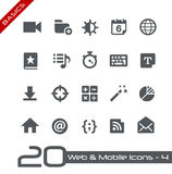 Web & Mobile Icons-4 // Basics Royalty Free Stock Images