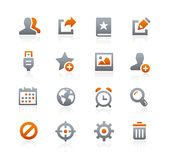 Web and Mobile Icons 2 -- Graphite Series Stock Photography