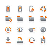 Web and Mobile Icons 3 -- Graphite Series Stock Images