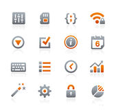 Web and Mobile Icons 4 -- Graphite Series Royalty Free Stock Images