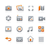 Web and Mobile Icons 5 -- Graphite Series Stock Photos