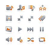 Web and Mobile Icons 7 -- Graphite Series Stock Photography
