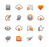 Web and Mobile Icons 8 -- Graphite Series Royalty Free Stock Photos