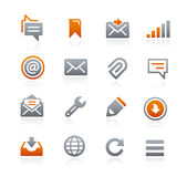 Web and Mobile Icons 9 -- Graphite Series Royalty Free Stock Photo