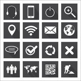 Web and Mobile Icons. Web and mobile icon set Royalty Free Stock Photo