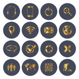 Web and Mobile Icons. Web and mobile icon set Stock Image