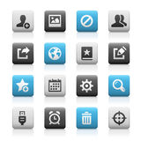 Web and Mobile Icons 2 - Matte Series Stock Photo