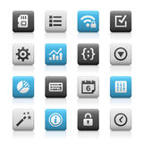 Web and Mobile Icons 4 - Matte Series Stock Image