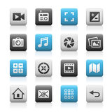 Web and Mobile Icons 5 - Matte Series Stock Images