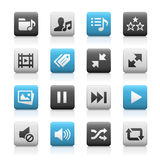 Web and Mobile Icons 7 - Matte Series Stock Image