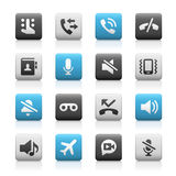 Web and Mobile Icons 1 - Matte Series Royalty Free Stock Images