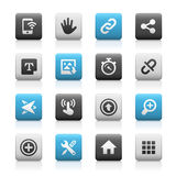 Web and Mobile Icons 10 - Matte Series Stock Photos