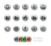 Web and Mobile Icons 3 // Metal Round Series Royalty Free Stock Photos