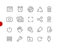 Web & Mobile Icons 3 // Red Point Series Stock Illustration