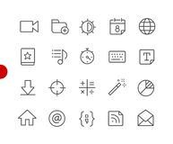 Web & Mobile Icons 4 // Red Point Series Royalty Free Illustration
