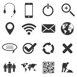 Web and mobile icons set. Black web and mobile icons set Royalty Free Stock Image