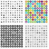 100 web and mobile icons set vector variant. 100 web and mobile icons set vector in 4 variant for any web design isolated on white Stock Photography