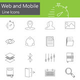 Web and mobile line icons set, outline vector Stock Photography
