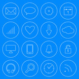 Web and Mobile line internet icons modern style vector set royalty free stock photos