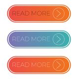 Web and Mobile Read More Button. Perfect for use in a wide range of new media templates: Web Marketing Agency, Social Media Services Showcase, Online Marketing royalty free illustration