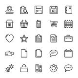 Web and Mobile UI Line Vector Icons 19 Stock Photos