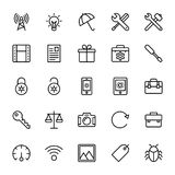 Web and Mobile UI Line Vector Icons 20 Royalty Free Stock Photos