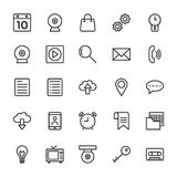 Web and Mobile UI Line Vector Icons 1 Stock Image
