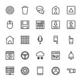 Web and Mobile UI Line Vector Icons 2 Royalty Free Stock Image