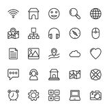 Web and Mobile UI Line Vector Icons 5 Royalty Free Stock Photo