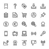 Web and Mobile UI Line Vector Icons 9 royalty free illustration