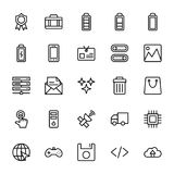 Web and Mobile UI Line Vector Icons 8 Royalty Free Stock Photography