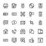 Web and Mobile UI Line Vector Icons 16 Royalty Free Stock Photography