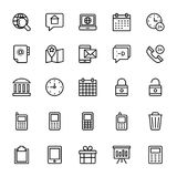Web and Mobile UI Line Vector Icons 17 Royalty Free Stock Photography