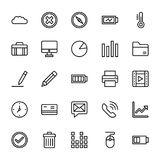 Web and Mobile UI Line Vector Icons 18. A collection of Web Mobile Ui Vector Icons that you can easily integrate in your design and the cool thing is, that there Royalty Free Stock Photo